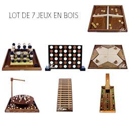 - Lot de 7 jeux en bois -